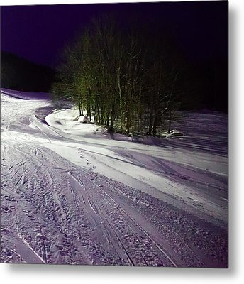 Metal Print featuring the photograph Mccauley Evening Snowscape by David Patterson