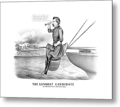 Mcclellan The Gunboat Candidate Metal Print