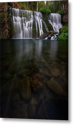 Metal Print featuring the photograph Mccloud Falls by Dustin LeFevre