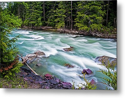 Metal Print featuring the photograph Mcdonald Creek by Gary Lengyel