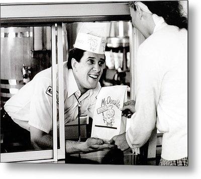 Mcdonalds Restaurant Crew Member Metal Print by Everett