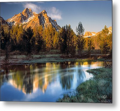 Mcgown Peak Sunrise  Metal Print by Leland D Howard