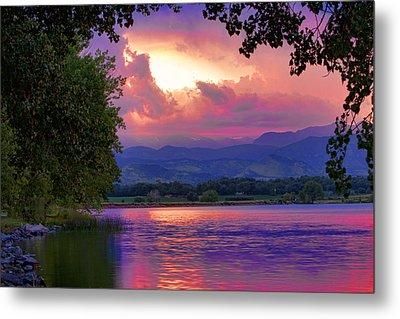 Mcintosh Lake Sunset Metal Print by James BO  Insogna
