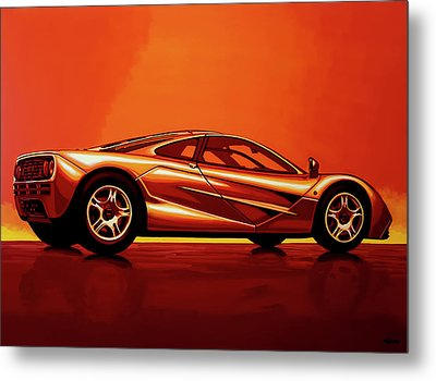 Mclaren F1 1994 Painting Metal Print by Paul Meijering