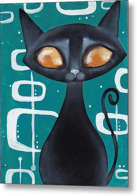 Mcm Cat Metal Print by Abril Andrade Griffith