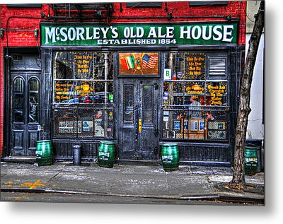 Mcsorley's  In Color Metal Print by Randy Aveille