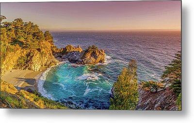 Metal Print featuring the photograph Mcway Falls Big Sur California by Scott McGuire