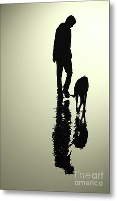 One Man And His Dog Metal Print by Kate Sadler