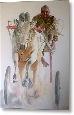 Me And My Partener Metal Print by Khalid Saeed