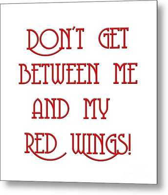 Metal Print featuring the digital art Me And My Red Wings 1 by Andee Design