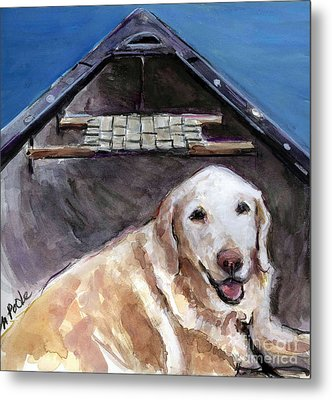 Metal Print featuring the painting Me You Canoe by Molly Poole