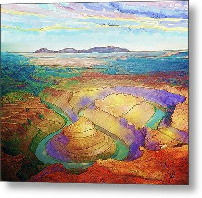 Meander Canyon Metal Print