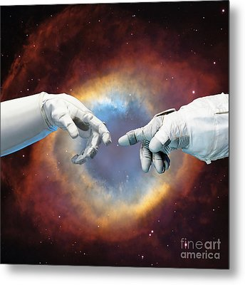 Meanwhile, In Space Metal Print by Jacky Gerritsen