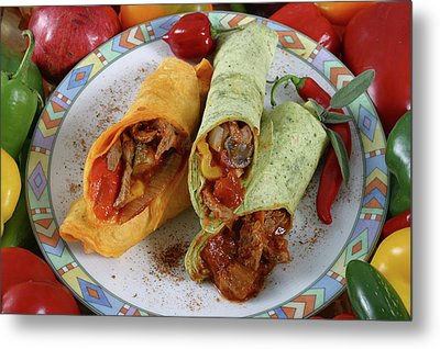 Meat And Vegetable Wrap Metal Print by Jack Dagley