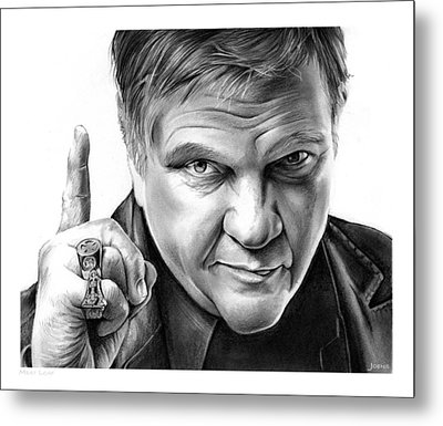 Meat Loaf Metal Print by Greg Joens