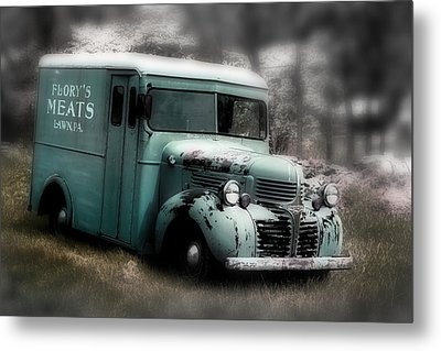 Meat Truck Metal Print by Gray  Artus