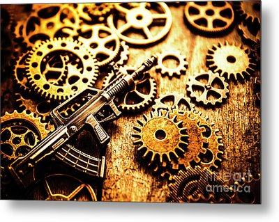Mechanised Warfare Metal Print