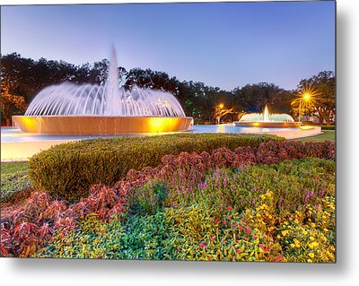 Mecom Fountain Metal Print by Tim Stanley