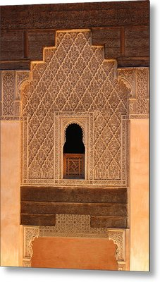 Metal Print featuring the photograph Medersa Ben Youssef by Ramona Johnston