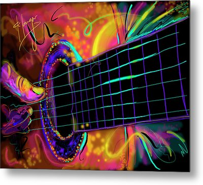 Medianoche Metal Print by DC Langer