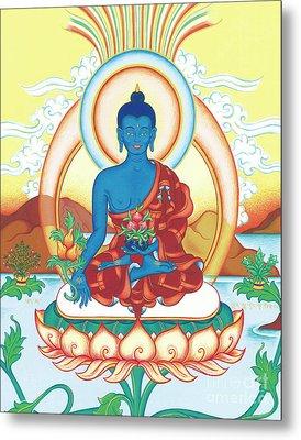 Medicine Buddha Metal Print by Carmen Mensink