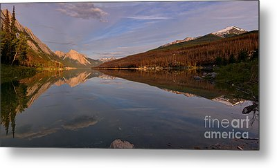 Medicine Lake Spring Reflection Panorama Metal Print by Adam Jewell