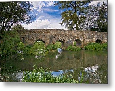 Medieval Bridge Metal Print by Scott Carruthers