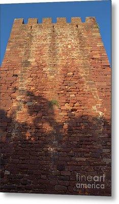 Medieval Castle Tower In Silves Metal Print