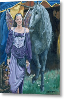 Metal Print featuring the painting Medieval Fantasy by Bryan Bustard