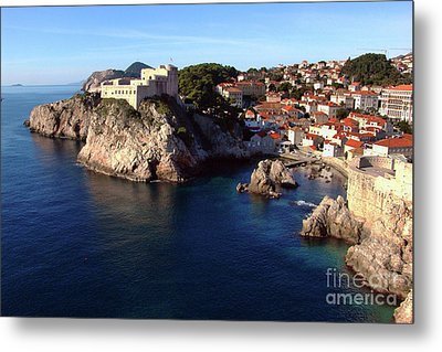 Medieval Fortresses Lovrijenac And Bokar Dubrovnik Metal Print by Jasna Dragun