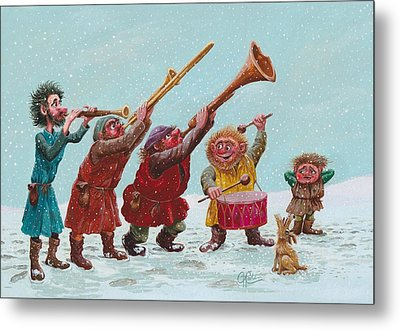 Medieval Merriment Metal Print by Charles Cater