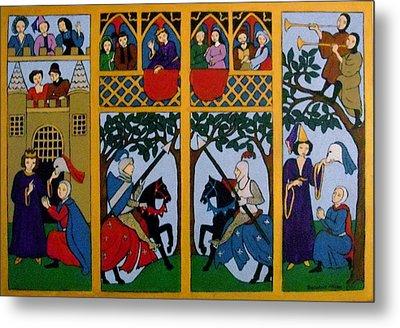 Medieval Scene Metal Print by Stephanie Moore