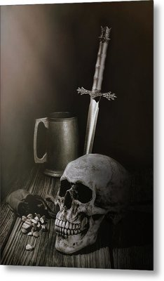 Medieval Still Life Metal Print by Tom Mc Nemar