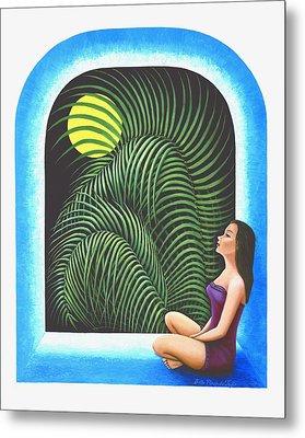 Meditation Metal Print by Belle Perez-de-Tagle