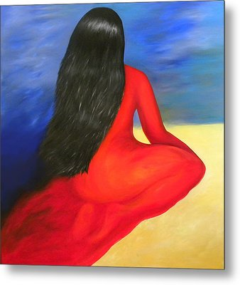 Meditation Moment Metal Print by Fanny Diaz