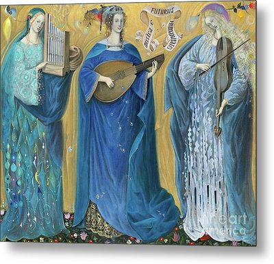 Meditations On The Holy Trinity  After The Music Of Olivier Messiaen, Metal Print by Annael Anelia Pavlova