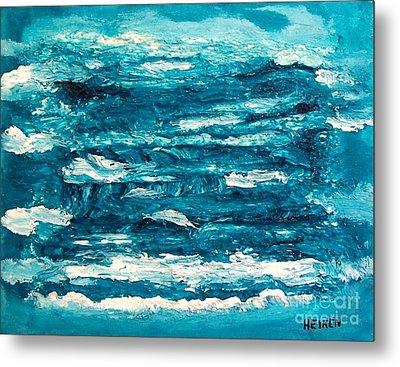 Mediterranean Blue Green Metal Print by Marsha Heiken