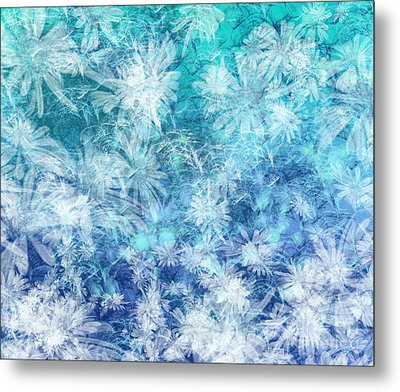 Turquoise Medley Metal Print