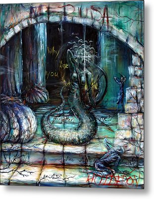 Medusa Metal Print by Heather Calderon