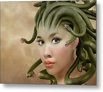 Medusa Metal Print by Nataly Rubeo