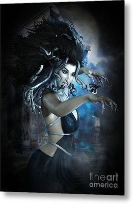 Medusa Metal Print by Shanina Conway