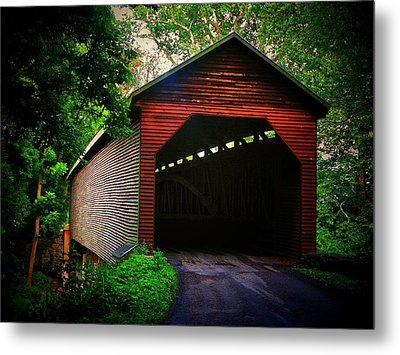 Meem's Bottom Covered  Bridge Metal Print by Joyce Kimble Smith