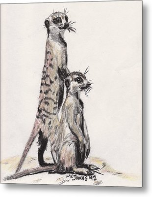 Meerkats Metal Print by Marqueta Graham