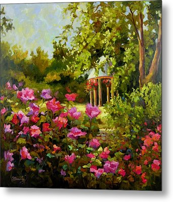 Metal Print featuring the painting Meet Me In The Garden by Chris Brandley