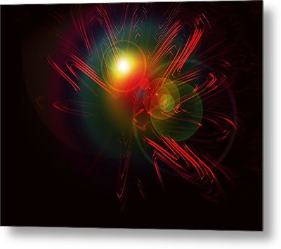 Meeting In The Stars Metal Print by Contemporary Art