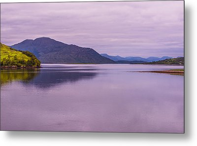 Metal Print featuring the photograph Meeting Of The Lochs  by Steven Ainsworth