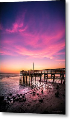 Meeting On The Pier Metal Print by Marvin Spates