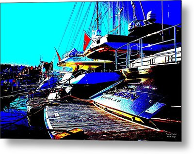 Metal Print featuring the photograph Mega Yachts by Rogerio Mariani
