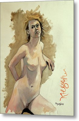 Metal Print featuring the painting Megan by Ray Agius