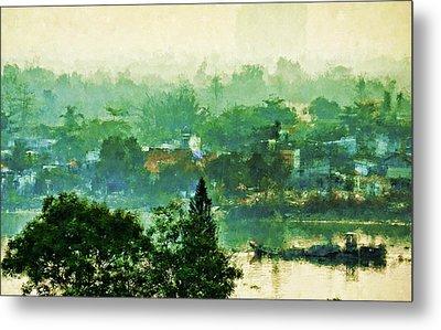 Mekong Morning Metal Print by Cameron Wood